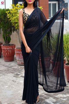 Sewing Clothes Women Dresses Design 41 New Ideas Dupion Silk Saree, Satin Saree, Velvet Saree, Sewing Clothes Women, Dress Clothes For Women, Indian Designer Outfits, Designer Dresses, Designer Sarees, Indian Outfits