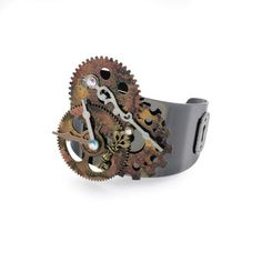Bead Landing Found Objects Wheels Are Turning Cuff Bracelet