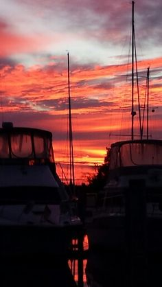 Sunset at Mears Point Marina in Maryland