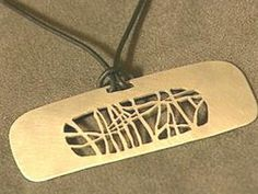 How to Make a Hand-Cut Sterling Silver Pendant : Decorating : Home & Garden Television
