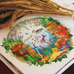 10.01.2016 счастливое утиное семейство)  #forest #EnchantedForest #ColouringBook #джоаннабэсфорд #johannabasford #start #зачарованныйлес #раскраскадлявзрослых #антистресс #раскраска #хобби #рисунок #акварельныекарандаши #kohinor #art #курск  #утка #утята #лягушка