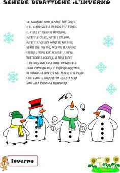 La maestra linda inverno filastrocca disegnata for Maestra gemma schede inverno