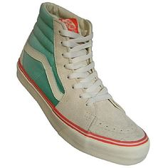 Vans Old Skool Hi Top - rad colors Skate Shoes, Vans Shoes, Vans Old Skool Hi, Tennis Vans, High Top Sneakers, Sneakers Nike, Vintage Sneakers, Vans Outfit, Vans Off The Wall