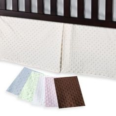 Buy T. L. Care Heavenly Soft Minky Dot Crib Skirt from Bed Bath & Beyond