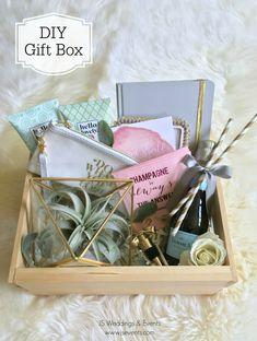 DIY Wedding Gift Box or Bridesmaids Gift