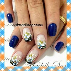 Nails design flowers 4 whitetip