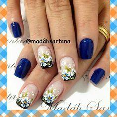 Nails design flowers 4 whitetip