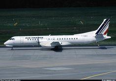 Saab 2000, Regional Airlines (opf Air France), F-GNEH, cn 016, first flight 24.3.1995 (Deutsche BA), Regional delivered 25.10.2000. Foto: Cologne/Bonn, Germany, 9.6.2001.