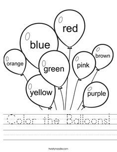 worksheet colors buscar con google - Colouring Pages For Preschoolers