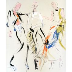 #backstage moves #ChristopherKane SS16 Illustrated from vogue.com