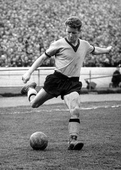 Barry Stobart in action in the 5-1 win over Chelsea in 1960