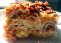 Cooking With Mary and Friends: Homemade Lasagna
