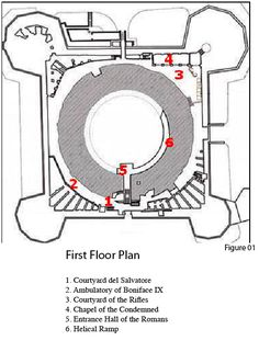 Castel Sant'Angelo floor plan.