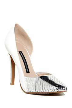 Mabel Pointed Toe Perforated d'Orsay Pump by French Connection on @nordstrom_rack