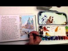 Leslie Fehling - Venice watercolor sketch - YouTube