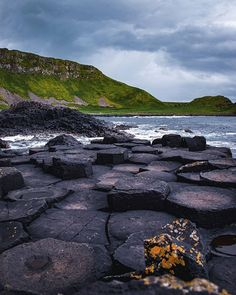 According to Gaelic Mythology this columns were built by the Irish giant Fionn Mac Cumhaill (Finn MacCool). He was challenged by the Scottish giant Benandonner. Fionn accepted the challenged and built this giant causeway so that the two could meet. There are two version of the story. One version said that Fionn won the fight. The other said that Fionn hides when he realizes that Benandonner was much bigger than him. Oonagh Fionn's wife disguises him as a baby. When Benandonner sees the… Fionn Mac Cumhaill, Columns, Monster High, Mythology, Repeat, Irish, Two By Two, Oc, Wanderlust