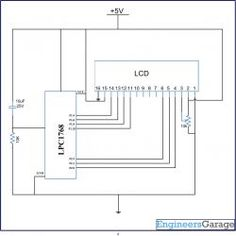 Pin Connection Of Lpc2148 With Max 232 233 Ic For Serial