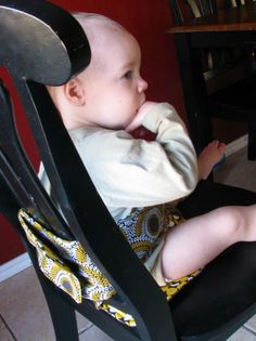 How to Make a Portable High Chair   AllFreeSewing.com