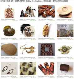 OPEN ♥ RND 197 ♥ BEST of ETSY BNS by EcoChicSoaps ♥ FRIENDS ♥ GIVEAWAY RND 200  Please join us at  http://www.etsy.com/treasury/MTI4MzMwMjh8MjYzNDA5NDc3OQ/open-rnd-197-best-of-etsy-bns-by