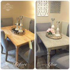 How to turn your table into a Farm Table - Fix It Chick Diy Furniture Redo, Moving Furniture, Inexpensive Furniture, Refurbished Furniture, Repurposed Furniture, Furniture Buyers, Distressed Furniture, House Furniture, Kitchen Furniture