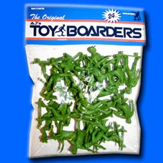 who needs the army guys when you can get Toy Boarders, come in 8 different poses (nose grab, nose manual, tail grab, ollie, etc)
