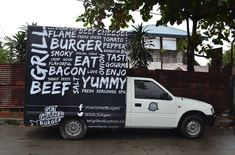 Get Grilled Burgers: A burger truck located in the Philippines. Learn more about starting your own food truck at our website. Starting A Food Truck, Sweet Desserts, Street Food, Burgers, Barbecue, Philippines, Cravings, Grilling, Stuffed Peppers