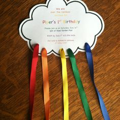 Girls can make a rainbow invitation to give families for our bridging ceremony