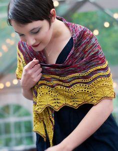 OUT OF THE MIST - Castalia Shawl Kit (Pre-Order)