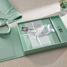 A premium quality leather album designed using exotic leather material in subtle pastel shades to appeal to the classy side of you