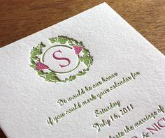 zinfandel letterpress wedding invitation by invitations by ajalon
