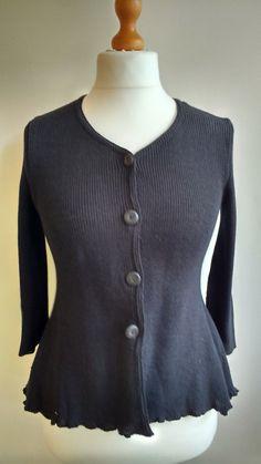 Linen cardigan, black, linen blazer, Size S,linen and cotton blend, knitted linen, linen knitwear, linen clothing VandSHandmade Etsy