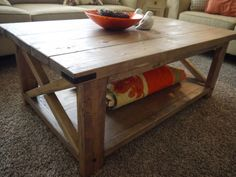 Red Hen Home's Rustic X Coffee Table
