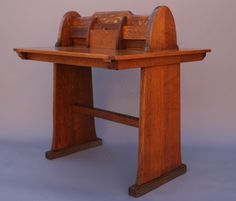 Arts & Crafts Oak Partner's Desk | From a unique collection of antique and modern desks at https://www.1stdibs.com/furniture/storage-case-pieces/desks/