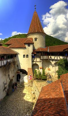 Bran Castle, Romania. The fortress is situated on the border between Transylvania and Wallachia, near Bran and in the immediate vicinity of Braşov. It is one among several locations linked to the Dracula legend. [http://en.wikipedia.org/wiki/Bran_Castle]