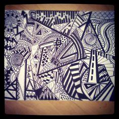 1st zentangle/doodle artwork i made