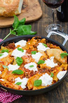 Easy Skillet Lasagna - have this delicious meal on the table in just over 30 minutes.