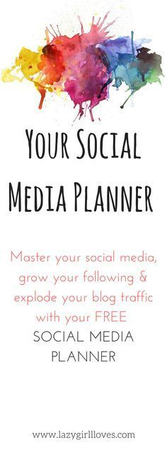 Your FREE Daily Social Media Planner - Lazy Girl Loves