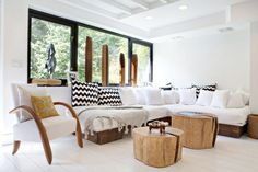 Organic Modern Living Room: Get the Look