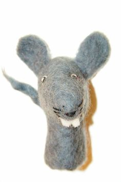 35adf024b4e Finger doll felt mouse grey finger puppet toy much shape