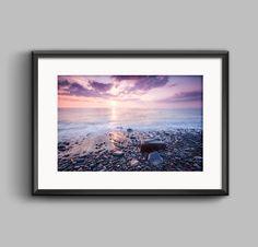 Sunset Seascape, fine art landscape photograph  #wallart #homedecor #decoration #framedphotos #wales #sunset