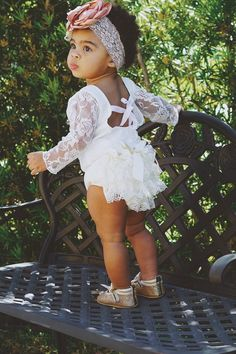 New White Lace Bodysuit. Baby Girl Lovely Boho Chic Lace Bodysuit w Ties in Back Flower Girl Summer Outfit Baby Girl Birthday Cake Smash New White Lace 1st Birthday Outfit Girl, 1st Birthday Cake For Girls, Cake Birthday, Baby Wedding Outfit Girl, Birthday Fashion, Birthday Ideas, Girls Summer Outfits, Summer Girls, Girl Outfits