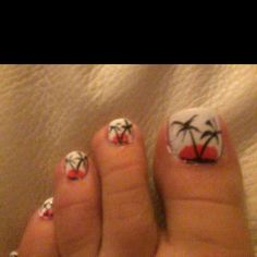 Malibu toe nails style!!!