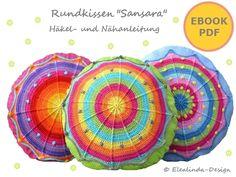 Ebook Rundkissen SANSARA Kissen ♥ PDF Anleitung von Elealinda-Design auf DaWanda.com