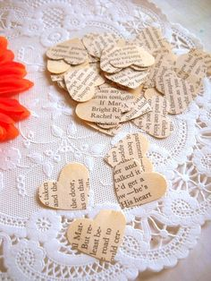 Vintage Heart Confetti - Anne of Green Gables but with pride and prejudice instead!