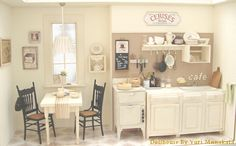 1/12 scale dollhouse kitchen by Yuri Munakata