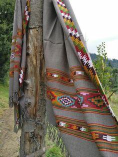 wool scarf, oversized scarf, blanket scarf, tribal scarf, wool shawl, bohemian style