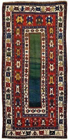 Antique Caucasian rug, Talish design, 19th c. Natural...