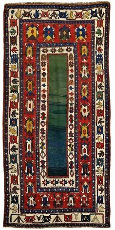 Antique Caucasian rug, Talish design, 19th c. Natural...