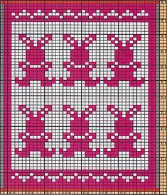 Ravelry: Potholder Rabbits 2 pattern by Regina Schoenfeldt Fair Isle Knitting Patterns, Dishcloth Knitting Patterns, Knitting Charts, Baby Knitting, Crochet Patterns, Crochet Rabbit, Crochet Bear, Crochet Birds, Crochet Food