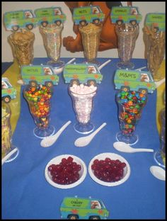 Ice cream sundae bar of course with out the scooby doo theme....